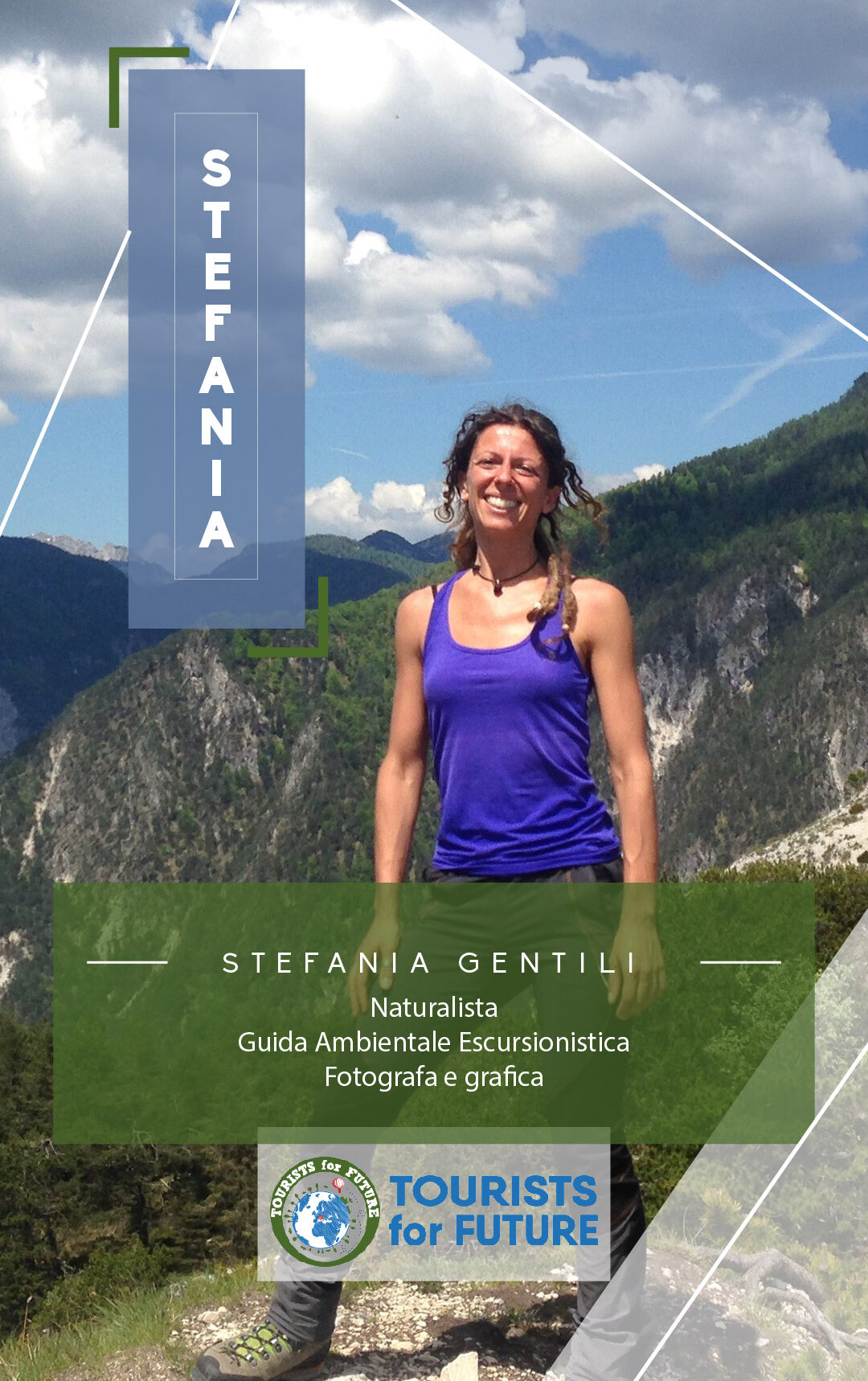 Team member tourists4future fotografa guida ambientale escursionistica